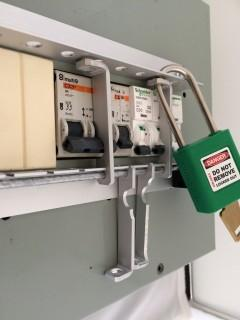 Modified Lockout Arms for new shape Circuit Breakers